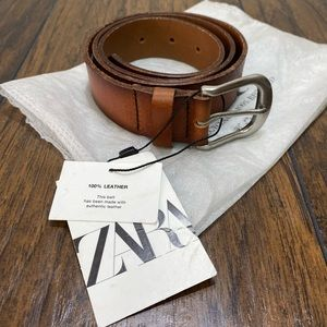 Zara Brown Leather vintage effect belt